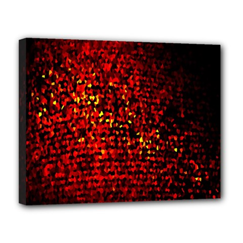Red Particles Background Canvas 14  X 11