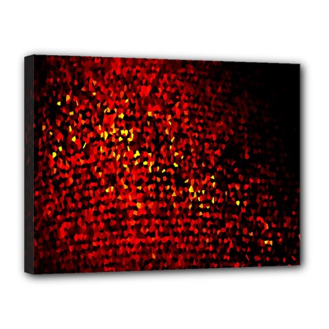 Red Particles Background Canvas 16  x 12