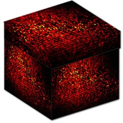 Red Particles Background Storage Stool 12
