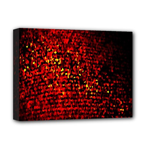 Red Particles Background Deluxe Canvas 16  X 12