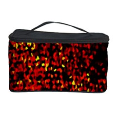 Red Particles Background Cosmetic Storage Case