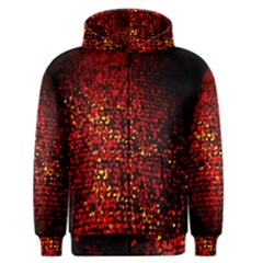 Red Particles Background Men s Zipper Hoodie