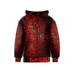 Red Particles Background Kids  Zipper Hoodie