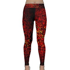 Red Particles Background Classic Yoga Leggings