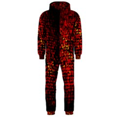 Red Particles Background Hooded Jumpsuit (men)