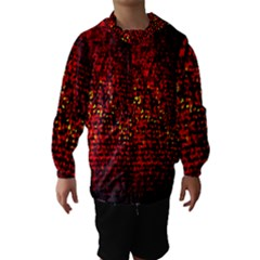 Red Particles Background Hooded Wind Breaker (kids)