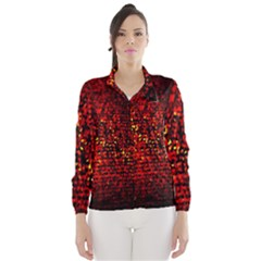 Red Particles Background Wind Breaker (Women)