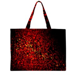 Red Particles Background Large Tote Bag