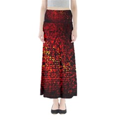 Red Particles Background Maxi Skirts