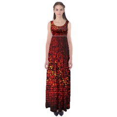 Red Particles Background Empire Waist Maxi Dress