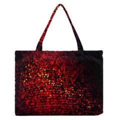 Red Particles Background Medium Zipper Tote Bag