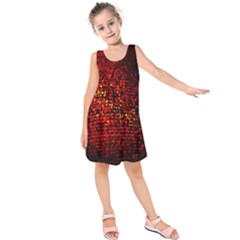 Red Particles Background Kids  Sleeveless Dress