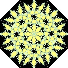 Yellow Snowflake Icon Graphic On Black Background Golf Umbrellas