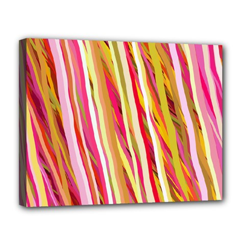 Color Ribbons Background Wallpaper Canvas 14  x 11