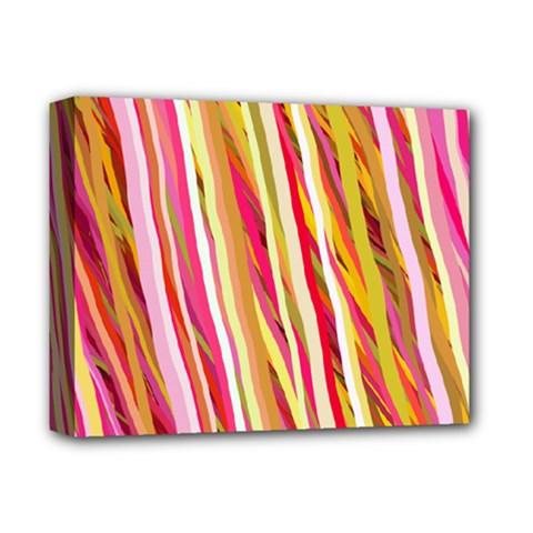 Color Ribbons Background Wallpaper Deluxe Canvas 14  x 11