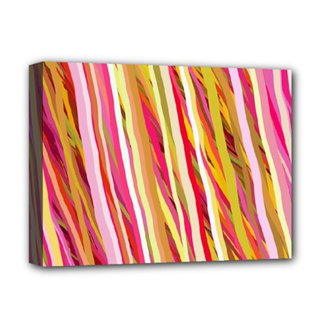 Color Ribbons Background Wallpaper Deluxe Canvas 16  x 12