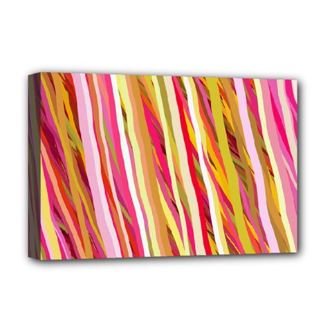 Color Ribbons Background Wallpaper Deluxe Canvas 18  X 12