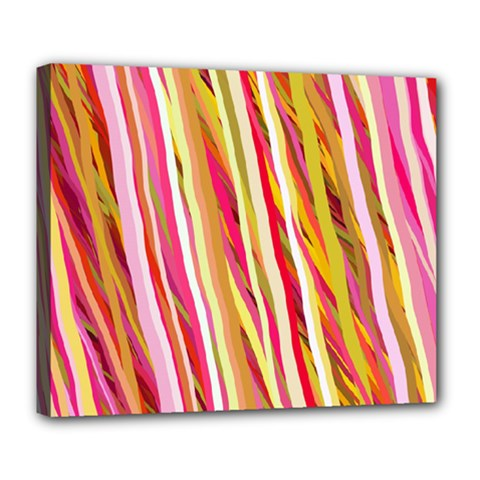 Color Ribbons Background Wallpaper Deluxe Canvas 24  x 20