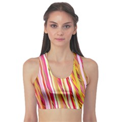Color Ribbons Background Wallpaper Sports Bra