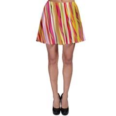 Color Ribbons Background Wallpaper Skater Skirt