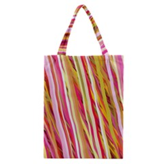 Color Ribbons Background Wallpaper Classic Tote Bag