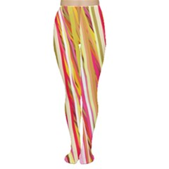 Color Ribbons Background Wallpaper Women s Tights