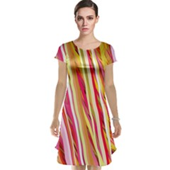 Color Ribbons Background Wallpaper Cap Sleeve Nightdress