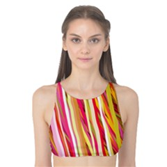 Color Ribbons Background Wallpaper Tank Bikini Top