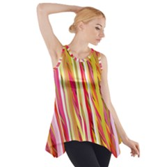 Color Ribbons Background Wallpaper Side Drop Tank Tunic