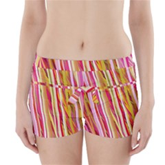 Color Ribbons Background Wallpaper Boyleg Bikini Wrap Bottoms