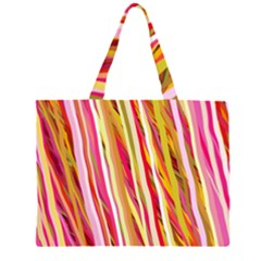 Color Ribbons Background Wallpaper Large Tote Bag