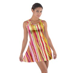 Color Ribbons Background Wallpaper Cotton Racerback Dress