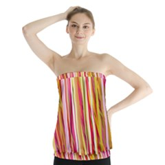 Color Ribbons Background Wallpaper Strapless Top