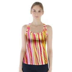 Color Ribbons Background Wallpaper Racer Back Sports Top