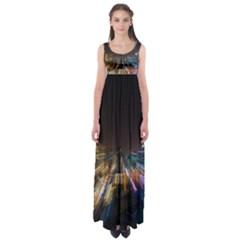 Frozen In Time Empire Waist Maxi Dress