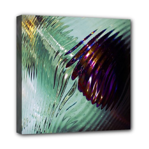 Out Of Time Glass Pearl Flowag Mini Canvas 8  x 8