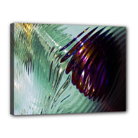 Out Of Time Glass Pearl Flowag Canvas 16  X 12