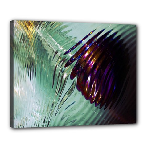 Out Of Time Glass Pearl Flowag Canvas 20  x 16