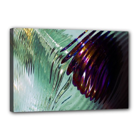 Out Of Time Glass Pearl Flowag Canvas 18  x 12