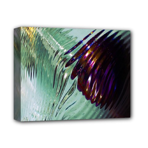 Out Of Time Glass Pearl Flowag Deluxe Canvas 14  X 11