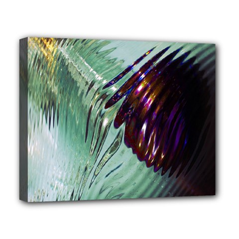 Out Of Time Glass Pearl Flowag Deluxe Canvas 20  x 16