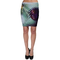 Out Of Time Glass Pearl Flowag Bodycon Skirt