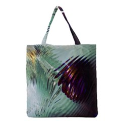 Out Of Time Glass Pearl Flowag Grocery Tote Bag