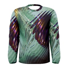 Out Of Time Glass Pearl Flowag Men s Long Sleeve Tee