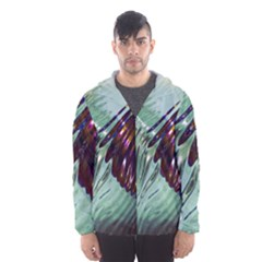 Out Of Time Glass Pearl Flowag Hooded Wind Breaker (men)