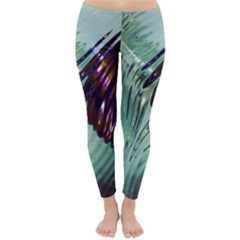 Out Of Time Glass Pearl Flowag Classic Winter Leggings