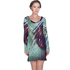 Out Of Time Glass Pearl Flowag Long Sleeve Nightdress
