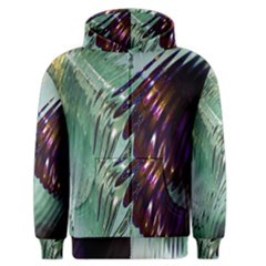 Out Of Time Glass Pearl Flowag Men s Zipper Hoodie