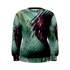 Out Of Time Glass Pearl Flowag Women s Sweatshirt