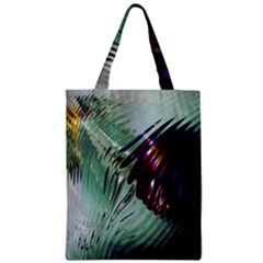 Out Of Time Glass Pearl Flowag Zipper Classic Tote Bag